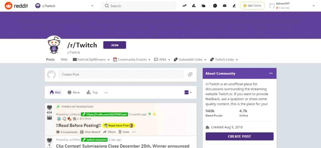 twitch reddit promotion